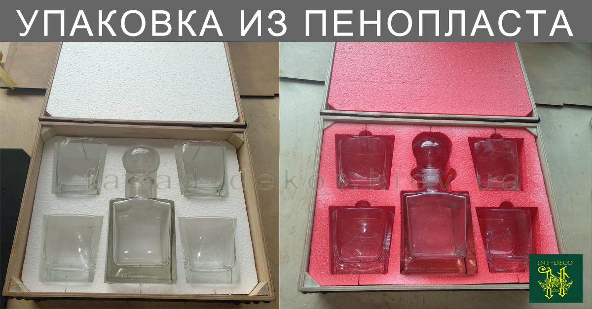 Упаковка из пенопласта для стаканов