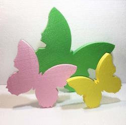 Бабочки из пенопласта